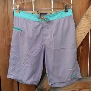 Patagonia mens board shorts size 32 purple blue